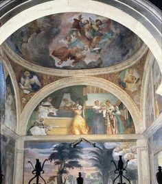 Scene della vita di Maria. 1525.  Affreschi. Chiesa di san Michele al Pozzo Bianco.