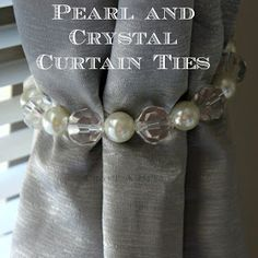 Craft A Spell: DIY Pearl and Crystal Curtain Ties