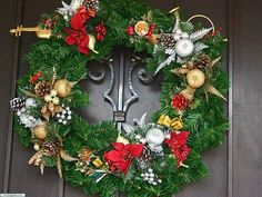 Home Design and Interior Design Gallery of Wreath Door Decorations For Christmas