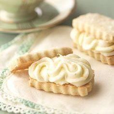 Vanilla Bean Shortbread Sandwiches with Orange Buttercream