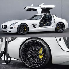 custom Mercedes-Benz SLS AMG sitting on wheels - Mercedes Auto, Custom Mercedes, Mercedes Benz Sls Amg, Mercedes Benz Models, Ferrari Laferrari, Lamborghini Gallardo, Mclaren P1, Dream Car Garage, Porsche 911 Targa