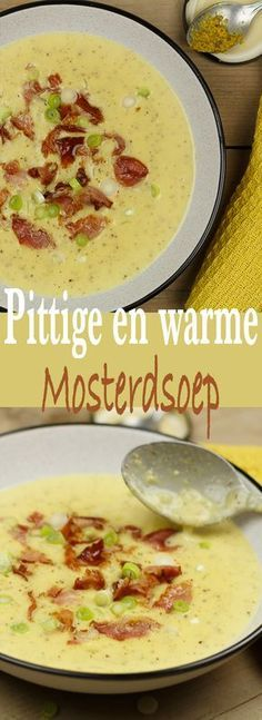 Mosterdsoep Veggie Recipes, Wine Recipes, Soup Recipes, Cooking Recipes, Healthy Recipes, I Love Food, Good Food, Yummy Food, Happy Foods