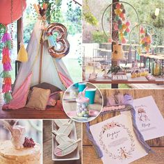 "From pretty feather cookies to ice-cream-hued dream catchers, this darling Boho Chic Birthday Party by RockPaperScissors is filled with lovely ideas for ""flower children"" of ALL ages! See the full party"