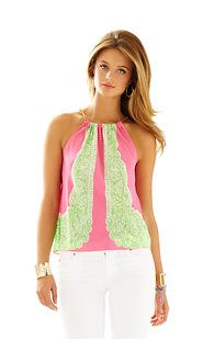 Lilly Pulitzer Riviera Halter Top in Hotty Pink Day Breakers Engineered. Now obsessed. Preppy Outfits, Preppy Style, Summer Outfits, Cute Outfits, My Style, Pink Day, Spring Summer Fashion, Passion For Fashion, Lilly Pulitzer