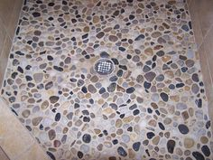 Also Known As River Rock The Shower Floor Is Most Por Place To Install Because Of Texture On Bare Feet
