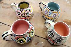 #281 - BOO! (6) could be Dia de la Muertos mugs!