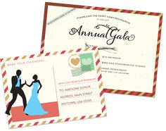 As donors receive postcards from friends' travels, get creative with a save the … - Gala İnvitation Gala Invitation, Postcard Invitation, Invitations, Nonprofit Fundraising, Fundraising Events, Leadership Programs, Havana Nights, Save The Date Postcards, Non Profit