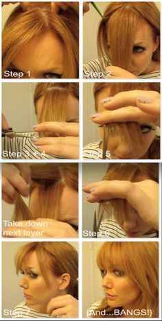 How to Cut + Trim Your Own Bangs | GirlGetGlamorous.com