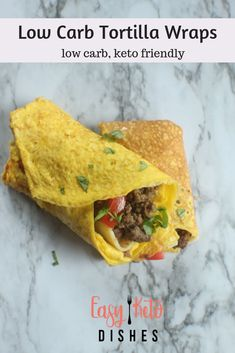 Easy To Make Low-Carb Tortillas Will Make Taco Night, Quesidillas And Sandwiches A Reality Once Again Only 4 Ingredients, Too Via Easyketodishes Healthy Low Carb Recipes, Low Carb Dinner Recipes, Ketogenic Recipes, Real Food Recipes, Keto Recipes, Keto Foods, Keto Dinner, Ketogenic Diet, Healthy Food