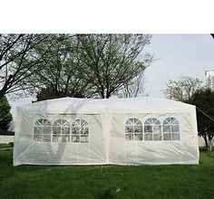 6m x 3m Garden Heavy Duty Pop Up Gazebo Marquee Party Tent Wedding Canopy New