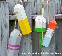 Wood Buoys  (obviously, no pink!)
