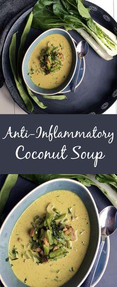Anti-Inflammatory Coconut Soup - The Histamine Friendly Kitchen Coconut Soup Recipes, Diet Soup Recipes, Veg Recipes, Healthy Recipes, Savoury Recipes, Homemade Potato Soup, Creamy Potato Soup, Low Histamine Foods, Anti Inflammatory Recipes