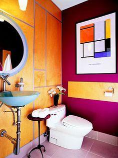 Bright Colorful Bathroom  http://www.digsdigs.com/43-bright-and-colorful-bathroom-design-ideas/