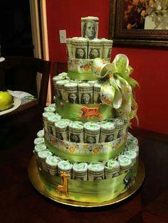 Money cake bby shower