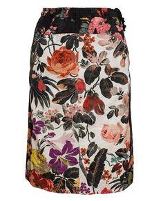 DRIES VAN NOTEN | Stasya Contrasting Floral Printed Skirt