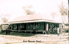 Hotel at New Moonta ( between Gin Gin and Mt Perry) courtesy of MDFHS Gin, Memories, History, House Styles, Places, Projects, Home, Memoirs, Log Projects