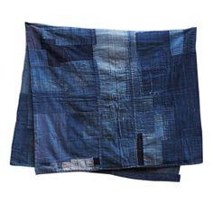 So beautiful // Mohawk General Store Boro Textile Boro, Shibori, Kimono Design, Mood Indigo, Japanese Graphic Design, Clothing And Textile, Japanese Textiles, Upcycled Vintage, Something Blue