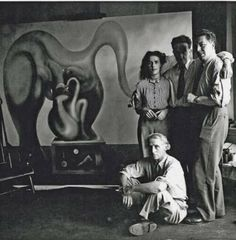 Max Ernst, Leonora Carrington, Marcel Duchamp and André Breton New York 1942