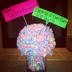 How to ask a guy to a dance.. Fun & easy! Big foam ball & jar from joanns
