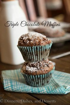 Triple Chocolate Muffins (for those days when double chocolate just won't do)