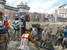 Mining the Walls at the Siege of Harfleur (1415)