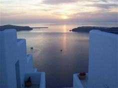 """View from the """"Absolute Bliss Hotel"""" in Santorini; appropriately named."""