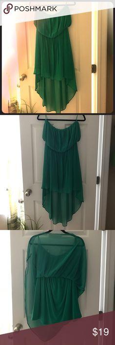 Green sleeveless mini layered dress Large green sleeveless mini layered dress size Large by Double Zero Dresses Asymmetrical