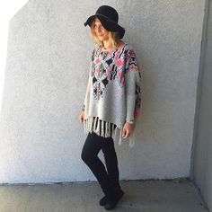 Nothing makes us more excited for fall than an outfit like this!  S/O to the gorgeous @sbrackett__  #fallfavorites #shoplocal #aztec #juneandbeyond #shopjuneandbeyond #417