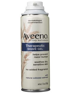 """Has anyone tried Aveeno Therapeutic Shave Gel? Another pinner said """"Best shaving cream ever."""""""