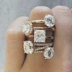 Every woman is unique. We believe her diamond should be as well. #IndyFacets #Diamonds #Rings #Unique #Individual