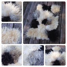 Felted rug, raw fleece