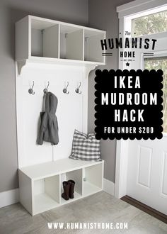 Ikea Mudroom Bench & Storage Unit Hack for Under $200