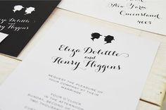 silhouette invitations wedding - Pesquisa Google