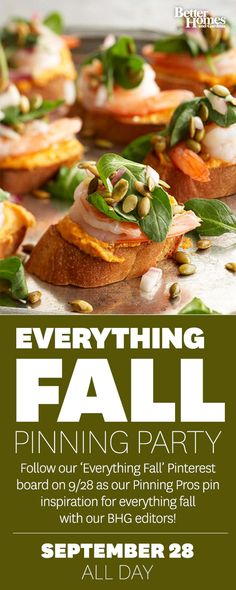 Follow our Everything Fall Pinning Party on Sunday 9/28 here: http://www.pinterest.com/bhg/everything-fall-pinning-party-2014/