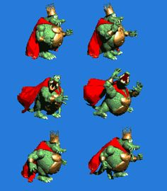 All of King K.Rool's animations from 'Donkey Kong Country' on the Super Nintendo. Super Nintendo, K Rool, Donkey Kong Country Returns, Parliament Funkadelic, Creative Skills, Old Games, Super Smash Bros, Bowser, Video Games