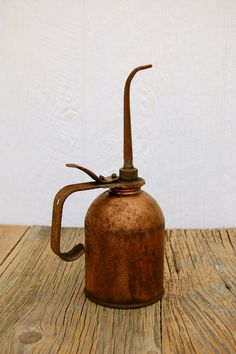 Large Vintage Grease Monkey Eagle Oil Can by sugarSCOUT on Etsy, $14.00