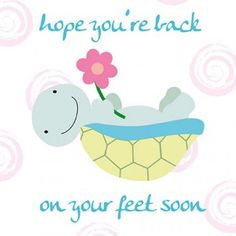 Brighten up someone's mood by sending this 'Get well soon' card! #Health #Humor