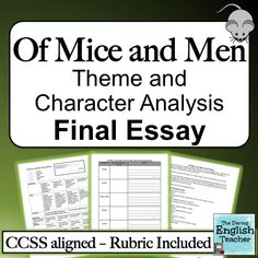 of mice and men john steinbeck character analysis tri folds  in this ccss aligned essay students analyze how the theme of loneliness relates to three