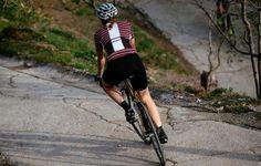 Women's Francine Jersey Red & Pink | Café du Cycliste