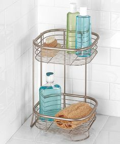 This Square Forma Two-Tier Shower Shelf is perfect! #zulilyfinds $19. Was $33.