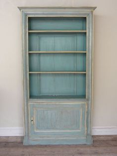 french painted, bookcase, bookshelves