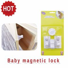 High Quality ABS Safety Plastic Kids Magnetic Child Lock  Door Baby Safety Magnetic Lock Free Shipping 4Pcs Locks+1Pc Per Set B E S T Online Marketplace - SaleVenue |