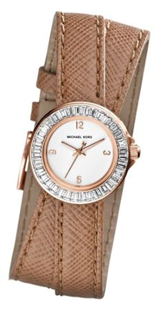 Michael Kors leather strap watch http://rstyle.me/n/ku7jdr9te