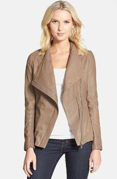 Elie Tahari Andreas Draped Collar Leather Jacket: Love it