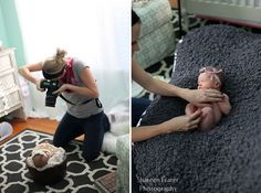 Great tips on preparing for newborn baby photoshoot!