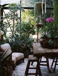 Boho conservatory envy...