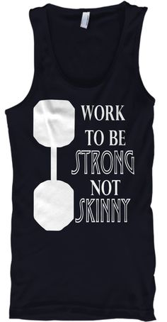Strong Not Skinny Tank Top Navy T-Shirt Front