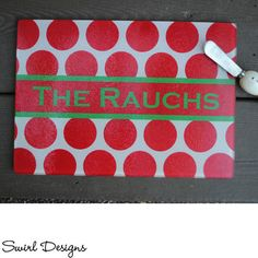 Personalized Rectangle Cutting Board ~ NEW SEASONAL PATTERNS!