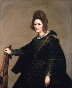 Foto: Diego Velázquez - Bildnis einer Dame, um 1630/33 . 'Retrato de una dama', de Velázquez