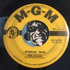 Hank Williams - Ramblin Man b/w Take These Chains From My Heart - MGM #11479 - Country